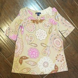 Floral print short sleeved dress